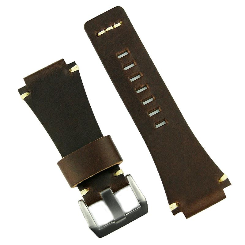 Italian Bands: Bell & Ross Style Watch Band Chestnut Classic Italian