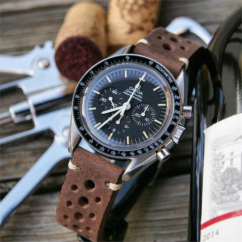 Omega Watch Price >> Saddle Brown Classic Vintage Racing Watch Strap | B & R Bands