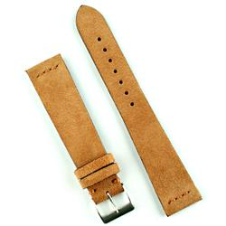 Vintage Suede Watch Band Strap in Camel Brown 22mm