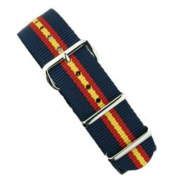 BandRBands 18mm 20mm 22mm Navy Red Yellow Nylon Watch Strap Band with stainless steel hardware