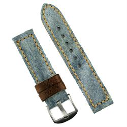 24mm Watch Band Made from Jeans Canvas