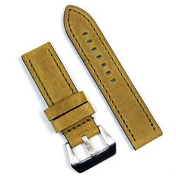 BandRBands 24mm Vintage Leather Watch Band Strap in Honey Dijon Leather