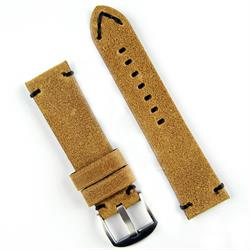 24mm Distressed Glove Leather Vintage Watch Band Strap