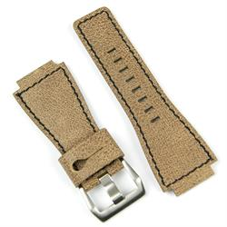 Bell and Ross replacement leather watch strap in cracked leather