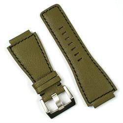 Bell and Ross Olive Leather Watch Band Strap