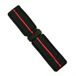 Velcro Watch Band Strap with a Red stripe design for all 20mm 22mm 24mm watches