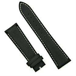 22mm Black Kevlar Style Leather Watch Band Strap for Bell & Ross BR123 and BR126