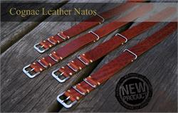 Collection of BandRBands Cognac Italian Leather Nato Straps and Bands