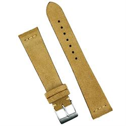 18mm 20mm 22mm Beige Italian Suede Vintage Watch Band Strap BandRBands