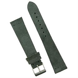 18mm 20mm 22mm Charcoal Gray Vintage Suede Watch Band Strap BandRBands