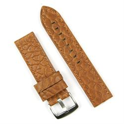 BandRBands 24mm Honey bison leather watch strap