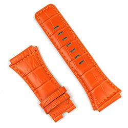 Bell and Ross br02 watch band in orange gator leather