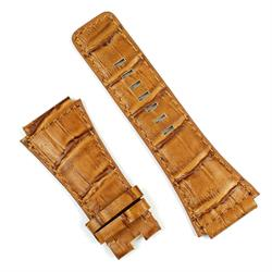 Bell and Ross watch strap in honey gator leather