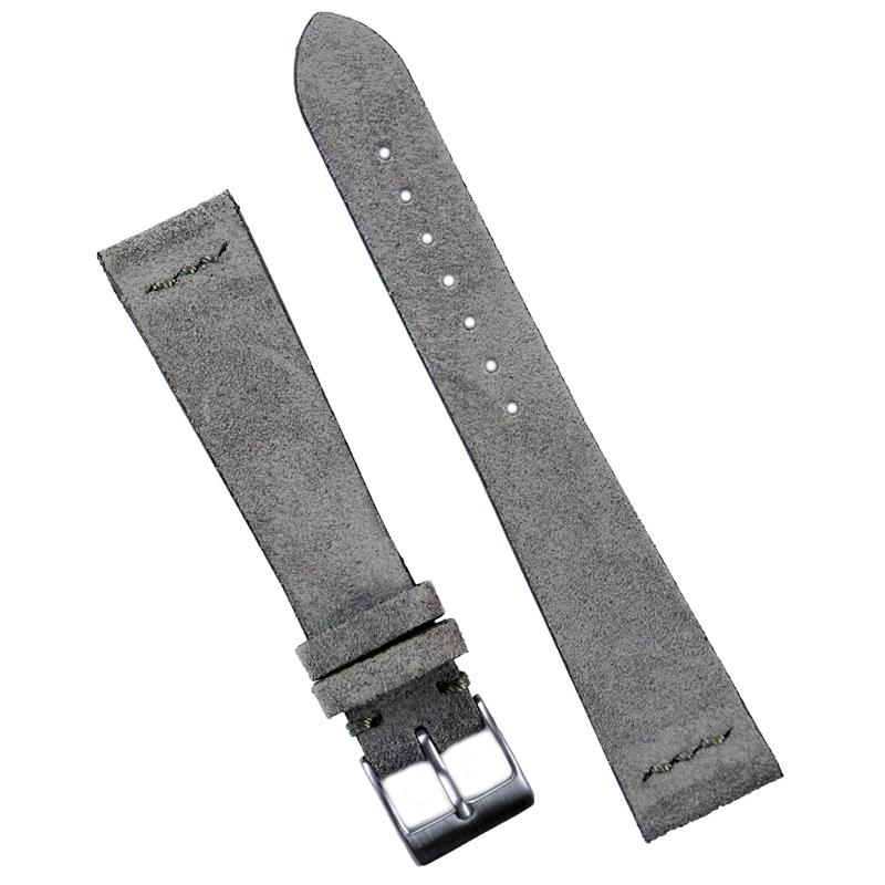 Gray Vintage Suede Watch Band B R Bands