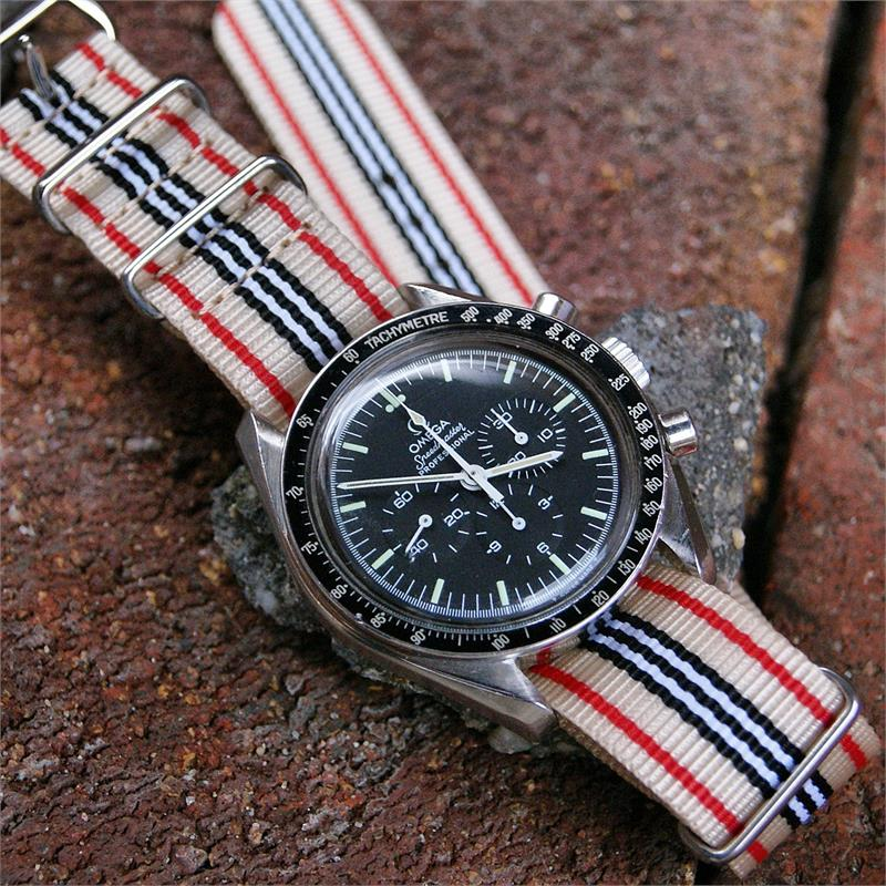 Types Of Watch Bands >> Nylon Military Type Watch Strap Sahara B R Bands