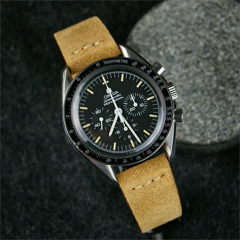 Omega Watch Price >> Beige Vintage Suede Watch Band | B & R Bands
