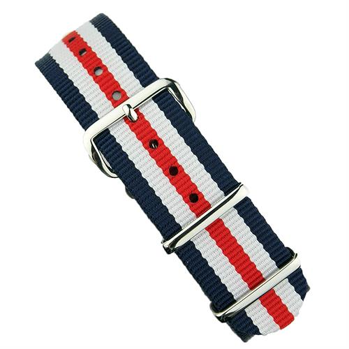 B & R Bands 18mm 20mm 22mm American Bond Nato Strap Band with stainless steel hardware