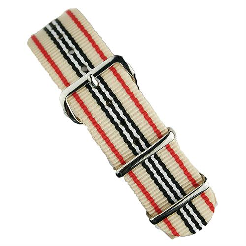BandRBands 18mm 20mm 22mm Nato Strap Band in khaki red black with stainless steel hardware