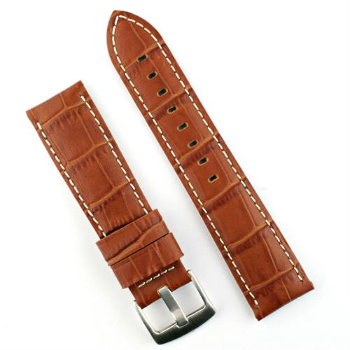 22mm 24mm Tann Gator Leather Watch Band Strap for Panerai Watches