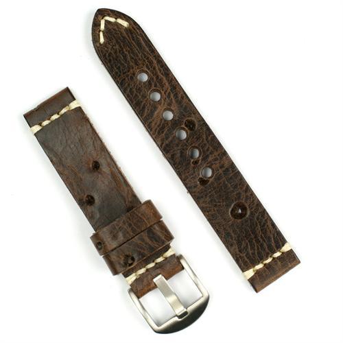 20mm Antique Bullethole Vintage Leather Watch Band