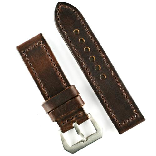 Panerai Vintage Watch Strap Band in Brown Horween Cheromexcel Leather 22mm 24mm