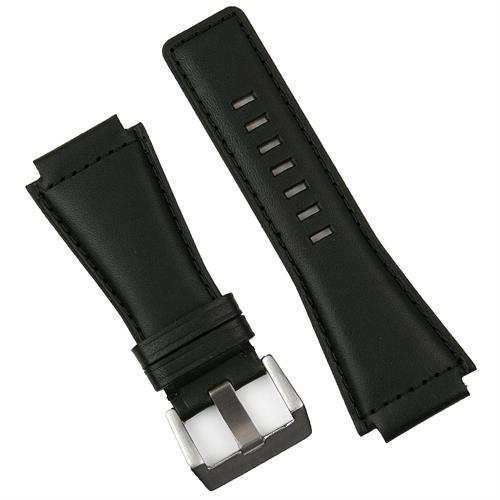 BandRBands Bell and Ross replacement Black Calf Leather Watch band Strap for the BR01 BR03 watches