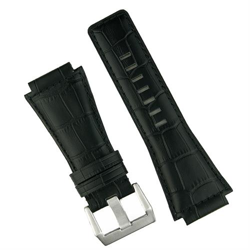 Bell and Ross Watch Band in black gator leather