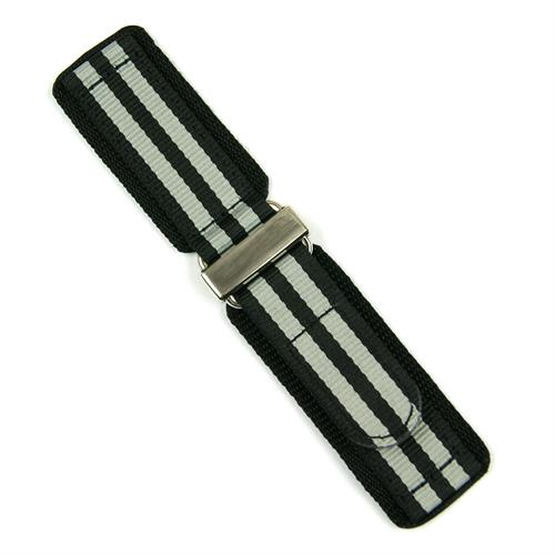 20mm 22mm 24mm Nylon Velcro Watch Band Strap designed in a James Bond Style with a stainles steel buckle