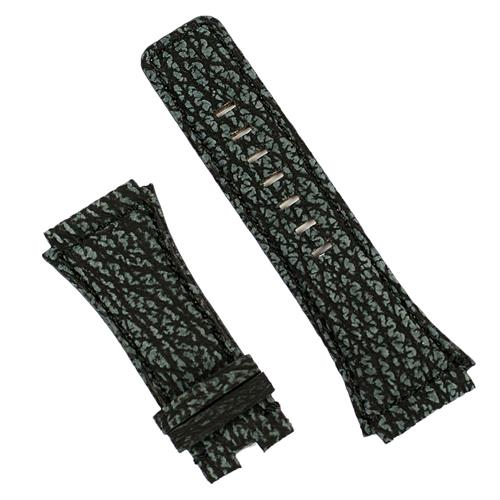 Replacement watch band for the bell and ross br02 in sharkskin exotic leather