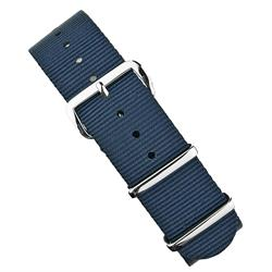 Navy Nylon Nato Strap Band 18mm 20mm 22mm nylon watch strap with stainless steel hardware