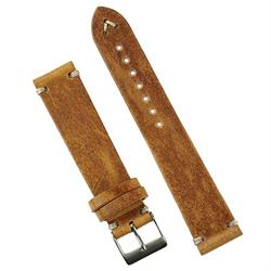 BandRBands 18mm Classic Vintage Leather Watch Band Strap in Oak Leather