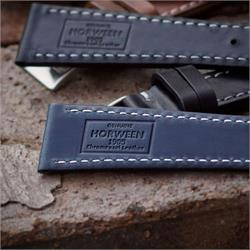 Navy Horween Chromexcel Leather Watch Bands Straps for 19mm lug width watches