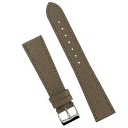 19mm Taupe Hermes style Watch Band Strap with classic matching stitching BandRBands