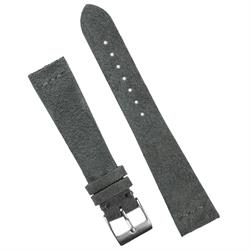 18mm Dark Gray Vintage Suede Watch Band Strap