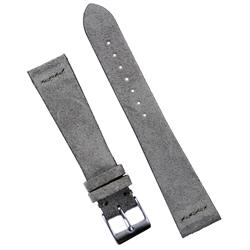 20mm Gray Vintage Suede Leather Watch Band Strap made from Italian smooth suede with a matching stitch
