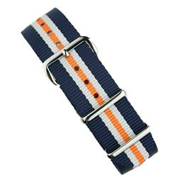 BandRBands 18mm 20mm 22mm Nato Watch Strap Band in Monte Carlo with stainless steel hardware