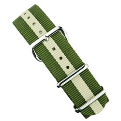 BandRBands 18mm 20mm 22mm Olive Khaki Nato Strap Band with stainless steel hardware