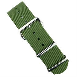 B & R Bands 18mm 20mm 22mm Olive Nato Strap Band with stainless steel hardware