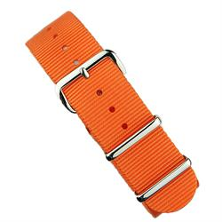 BandRBands 18mm 20mm 22mm Orange Nato Strap Band with stainless steel hardware