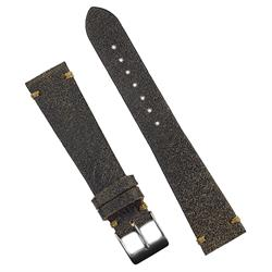 18mm 19mm 20mm 22mm Vintage Horween Leather Watch Band Strap Made from Roadmaster Horween leather with a khaki stitch