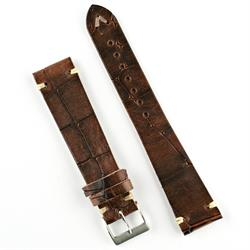 18mm Rosewood Vintage Leather Watch Band Strap