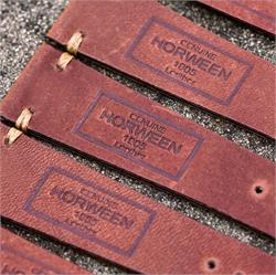19mm Rust Horween Vintage Leather Watch Band Straps made from a beautiful reddish pull up horween leather