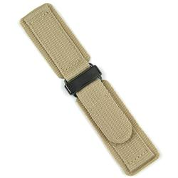 Khaki nylon Velcro watch Strap Band available for all 20mm 22mm 24mm Watches with a PVD buckle