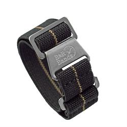 Marine Nationale Watch Band Strap Elastic Parachute Material 20mm 22mm Black Khaki Stripe