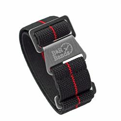 Marine Nationale Watch Band Strap Elastic Parachute Material 20mm 22mm Black Red Stripe