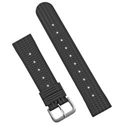 22mm Rubber Waffle Watch Band Strap in a vintage retro seiko design Replacement Waffle Rubber Strap Band