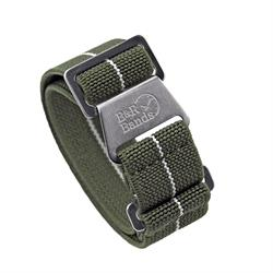Marine Nationale Watch Band Strap Elastic Parachute Material 20mm 22mm Olive White Stripe