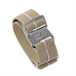 Marine Nationale Watch Band Strap Elastic Parachute Material 20mm 22mm Khaki White Stripe