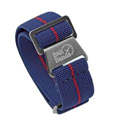 Marine Nationale Watch Band Strap Elastic Parachute Material 20mm 22mm Navy RedStripe