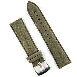 20mm Gray Sueded Leather Watch Band Strap with a classic matching stitch
